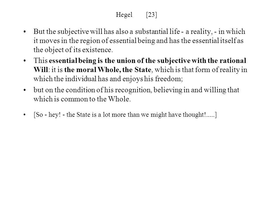 Hegel [23]